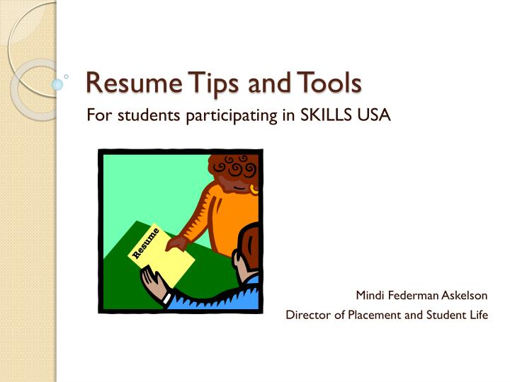 Resume tips and tools