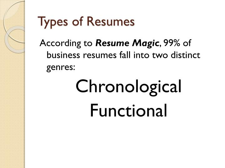 Types of Resumes