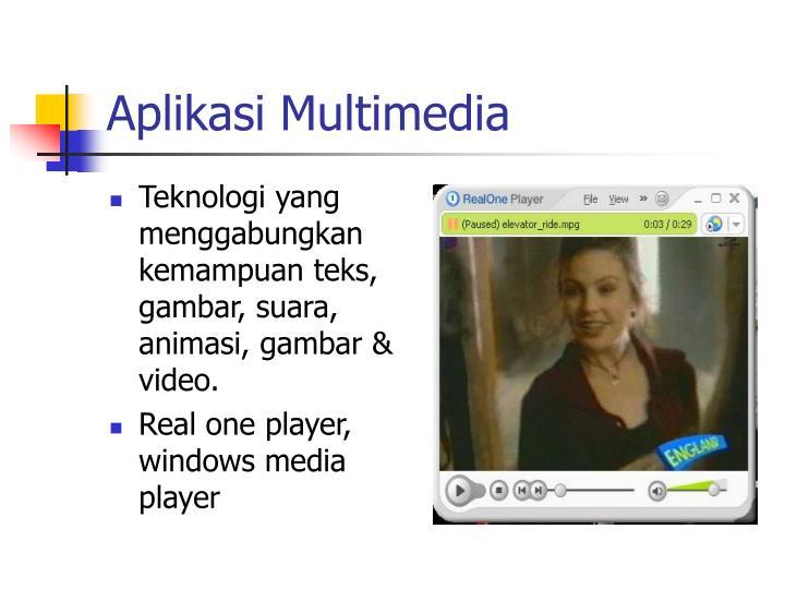 Aplikasi Multimedia