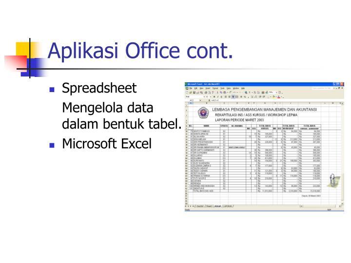 Aplikasi office cont