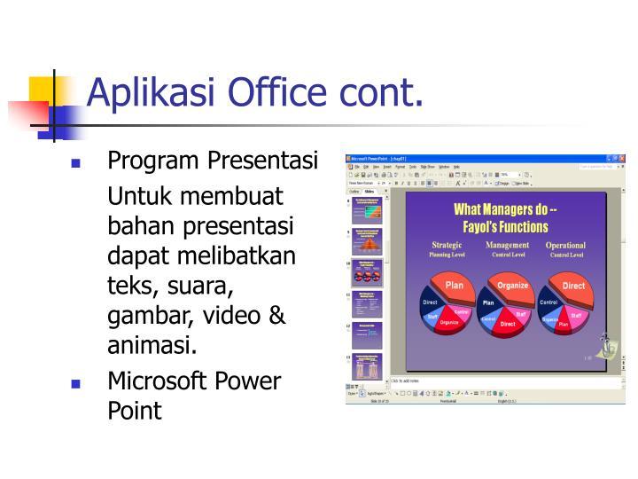 Aplikasi Office cont.