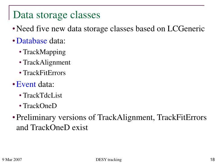 Data storage classes