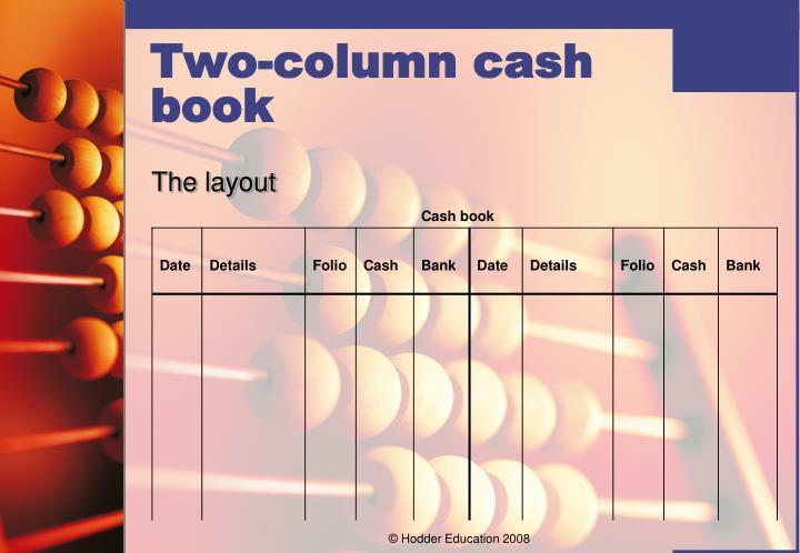 Two-column cash book