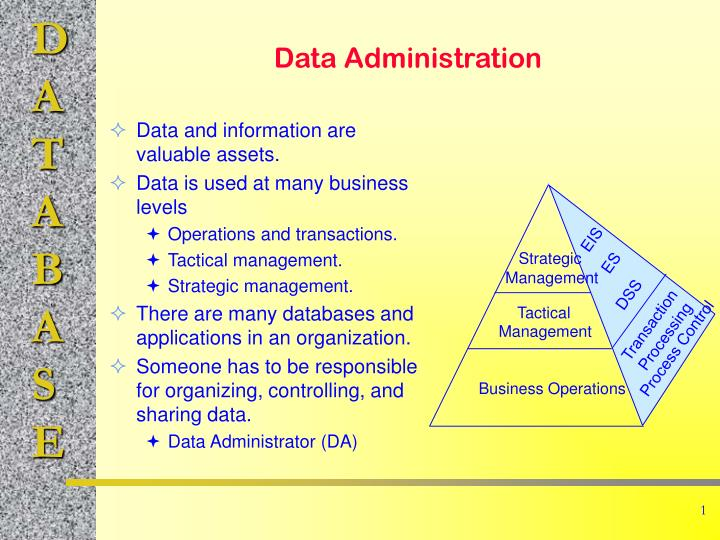 data administration n.