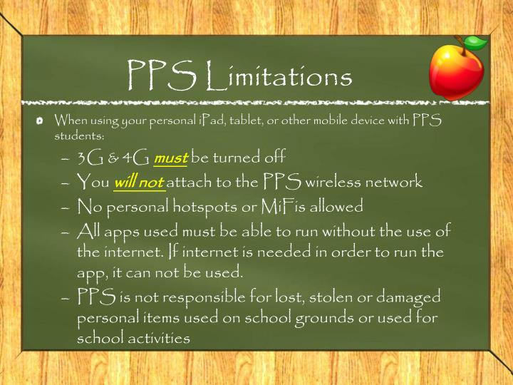 Pps limitations