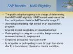 aap benefits nmd eligibility