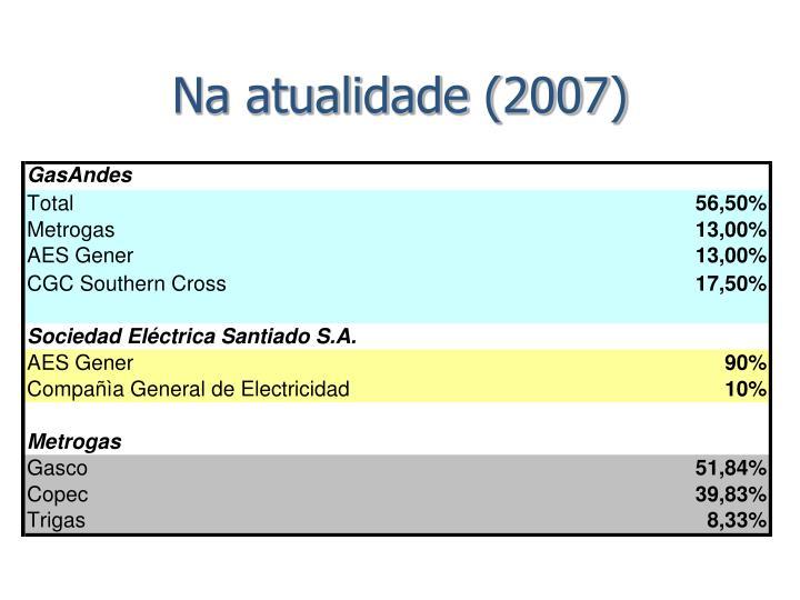 Na atualidade (2007)