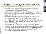 managed care organizations mcos1