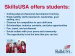 skillsusa offers students