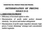 determination of pricing goals 1 3