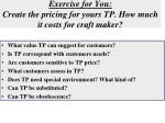 exercise for you create the pricing for yours tp how much it costs for craft maker
