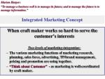 integrated marketing concept