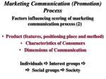marketing communication promotion process1