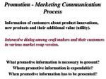 promotion marketing communication process