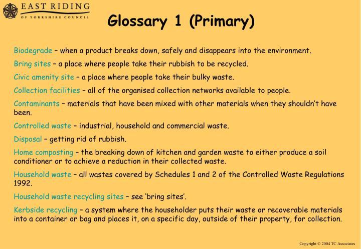 Glossary 1 (Primary)