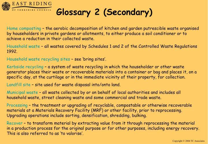 Glossary 2 (Secondary)