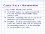 current status alternative fuels1