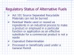 regulatory status of alternative fuels