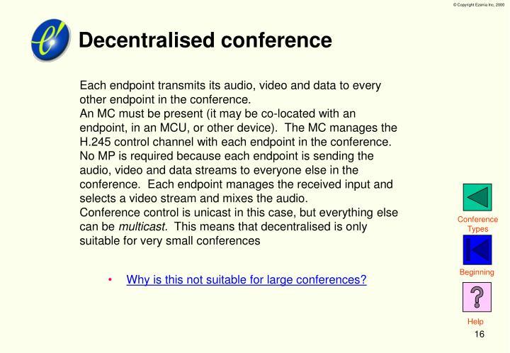 Decentralised conference