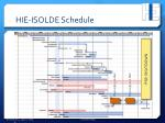 hie isolde schedule