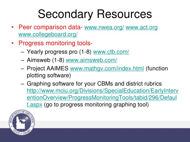 Secondary Resources