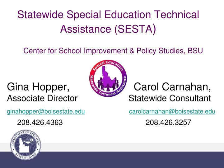 Center for School Improvement & Policy Studies, BSU