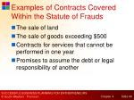 examples of contracts covered within the statute of frauds