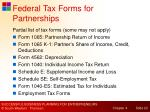 federal tax forms for partnerships