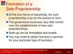 formation of a sole proprietorship