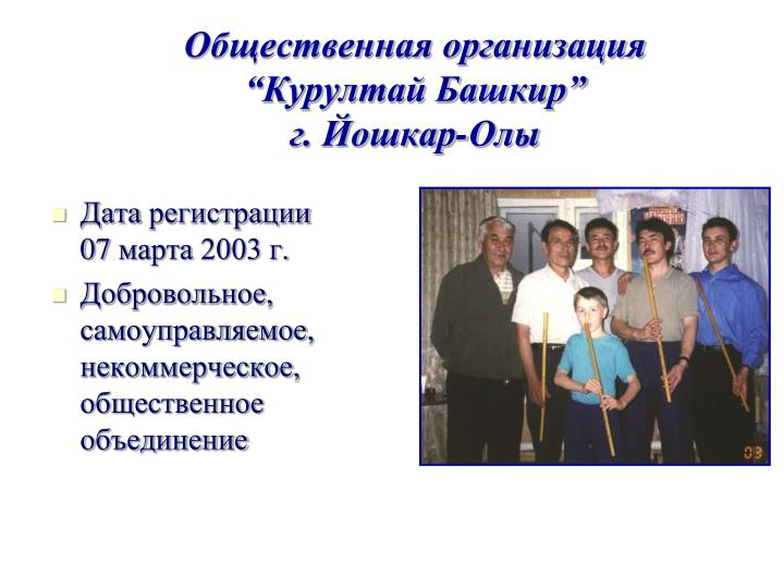 """Общественная организация """"Курултай Башкир"""""""