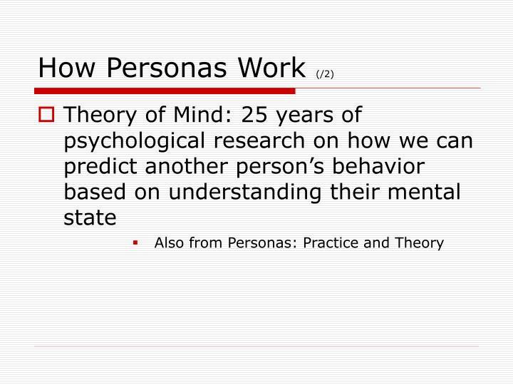 How Personas Work