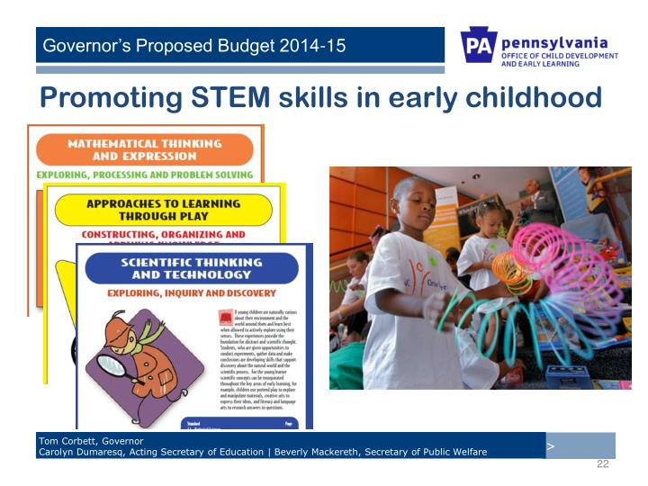 Promoting STEM skills in early childhood