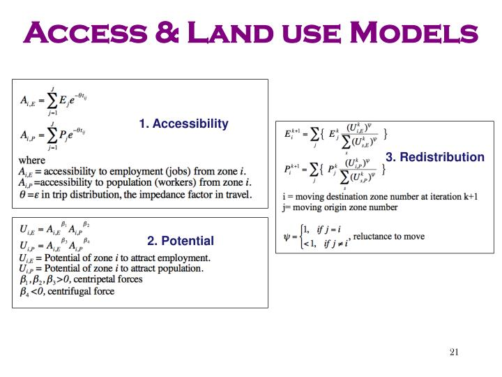 Access & Land use Models
