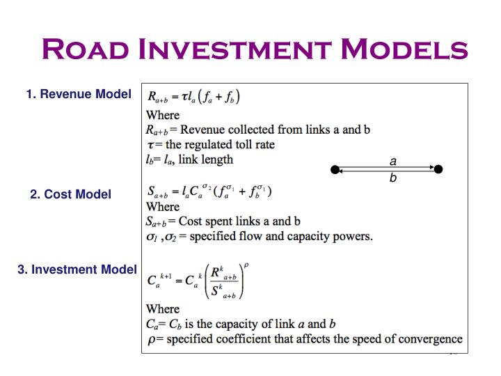 Road Investment Models