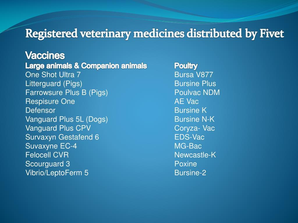PPT - MARKETING OF REGISTERED VETERINARY MEDICINES