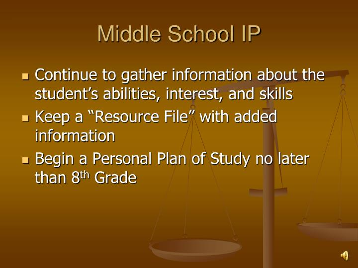Middle School IP