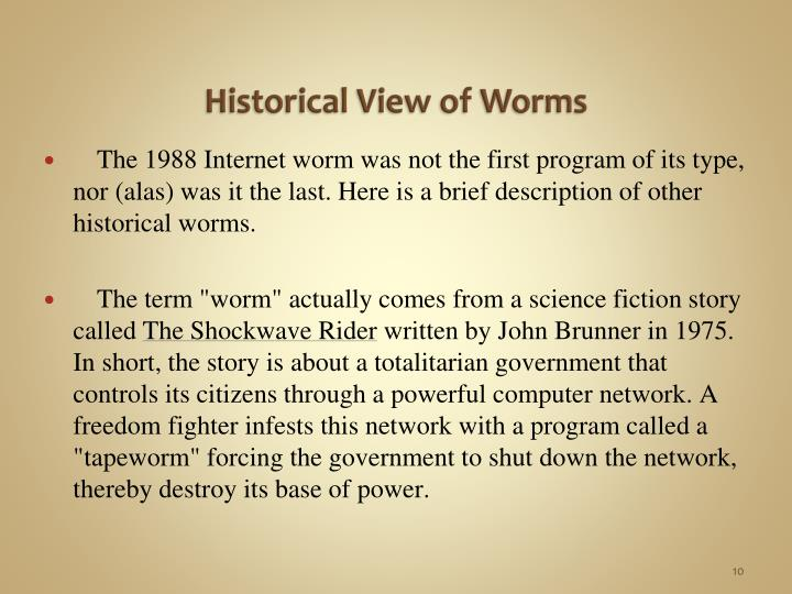 Historical View of Worms