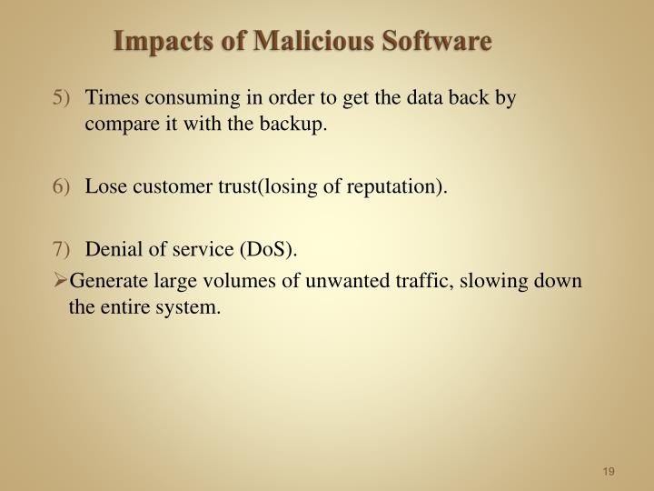 Impacts of Malicious Software