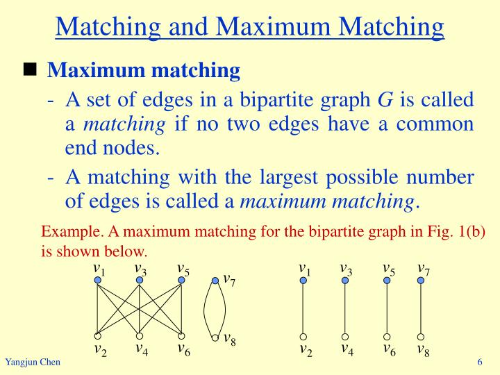 Matching and Maximum Matching