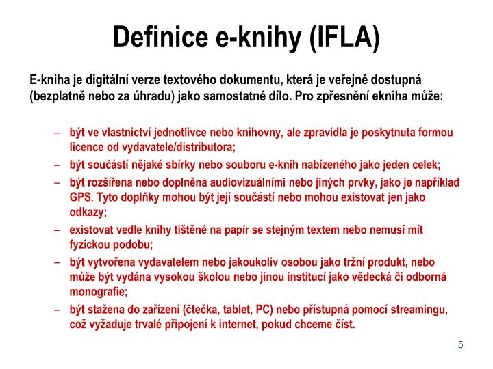 Definice e-knihy (IFLA)