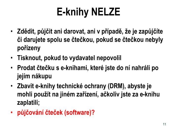 E-knihy NELZE
