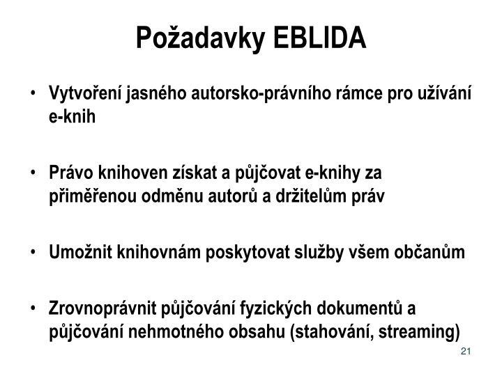 Požadavky EBLIDA