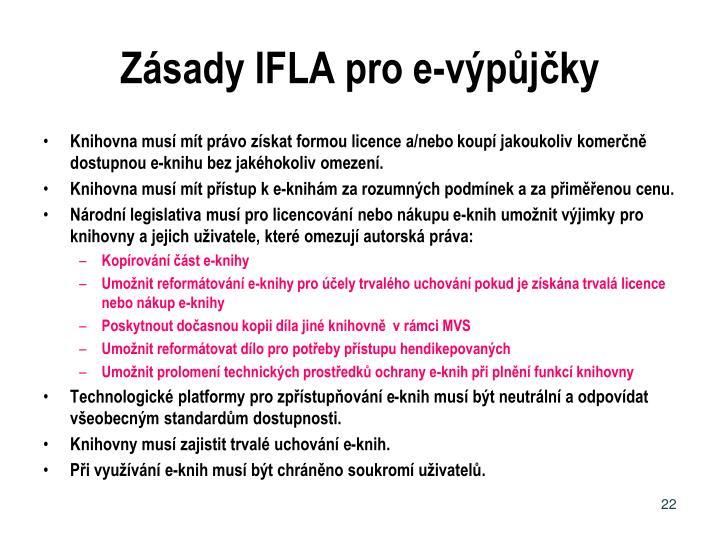 Zásady IFLA pro e-výpůjčky