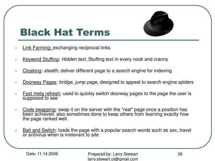 Black Hat Terms