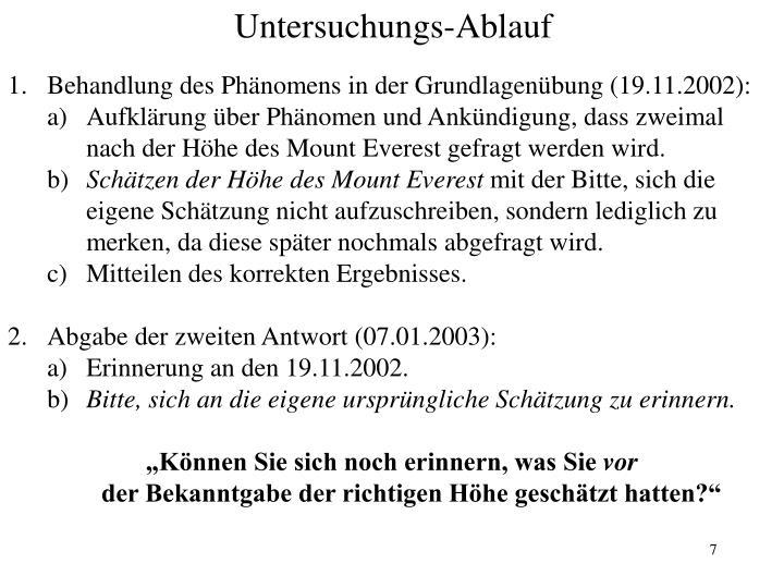 Behandlung des Phänomens in der Grundlagenübung (19.11.2002):