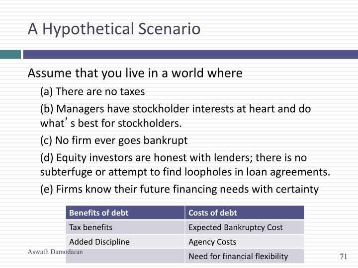 A Hypothetical Scenario