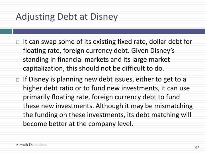Adjusting Debt at Disney