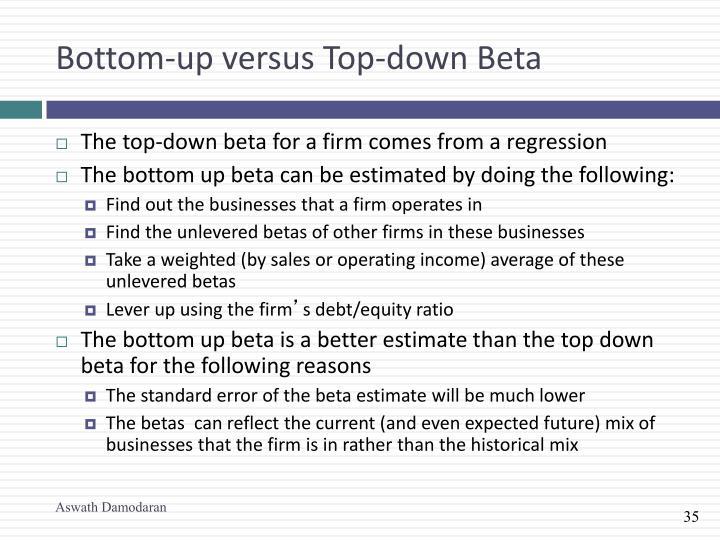 Bottom-up versus Top-down Beta