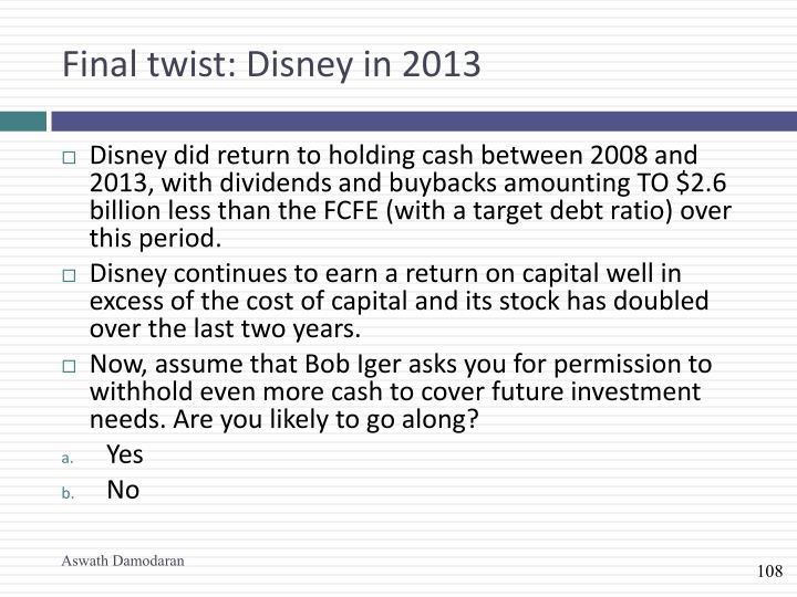 Final twist: Disney in 2013