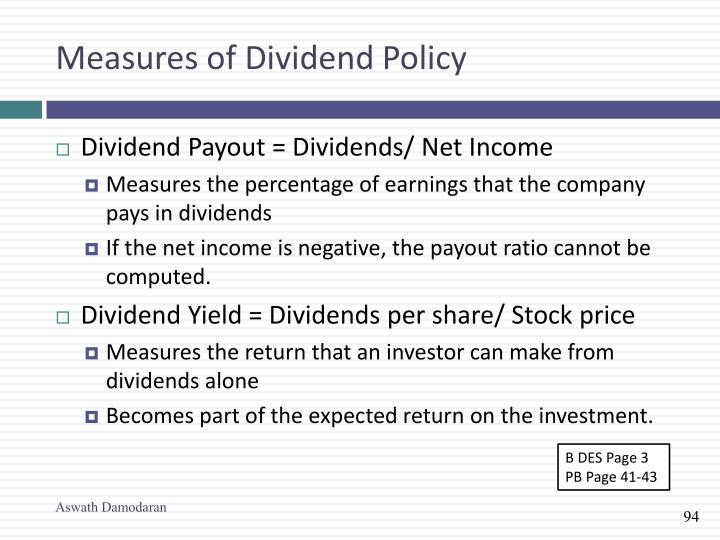 Measures of Dividend Policy